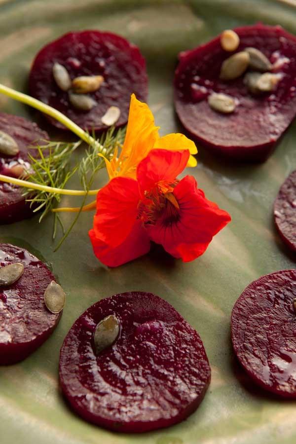 Sałatka pieczone buraki kolacja agroturystyka
