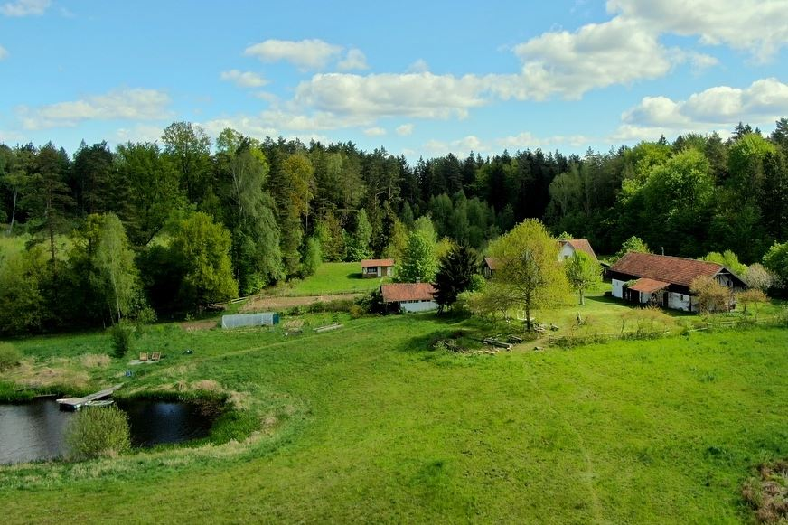 Letnia Kuchnia summer place seen from the sky