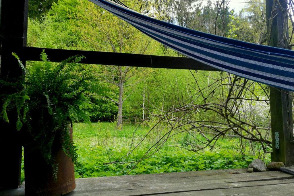 Hébergement Varmie Coin relax avec Hamac sur la terrasse