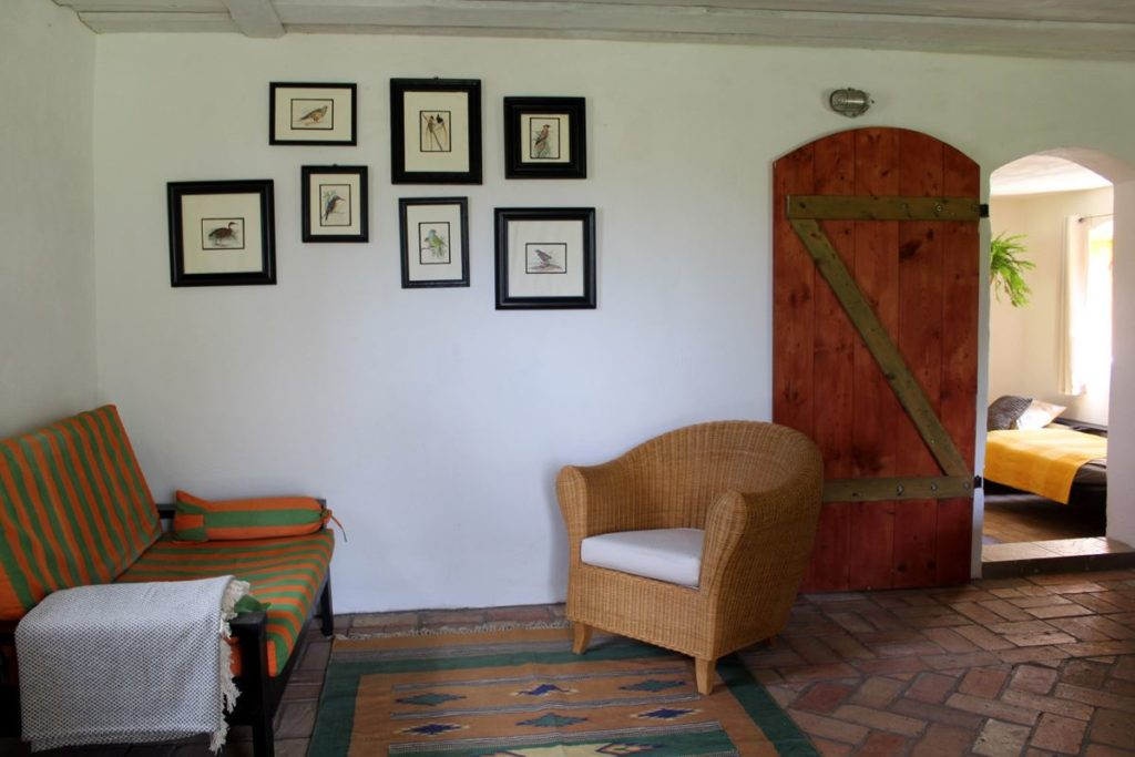Coin salon dans la chambre Quercus