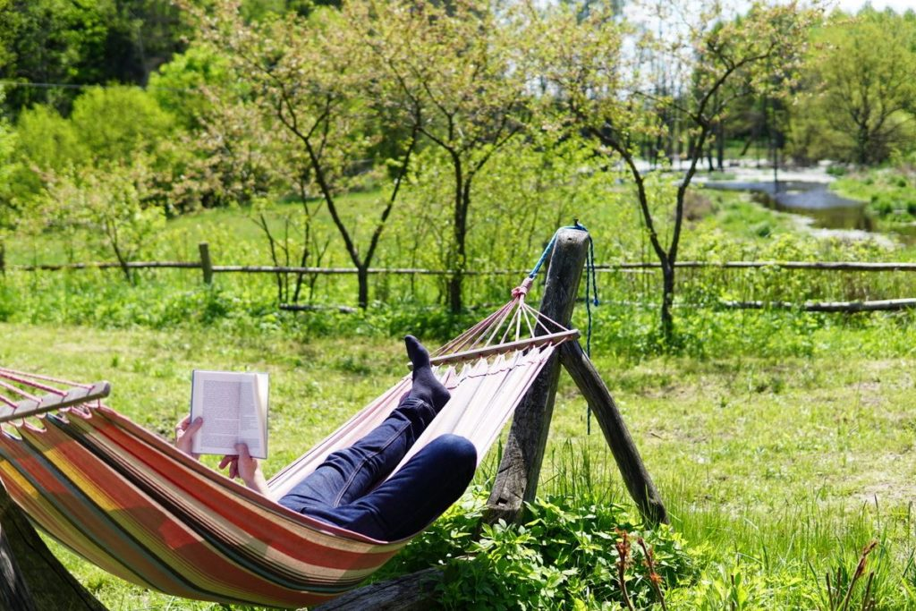 Relaxation moment in a hammock