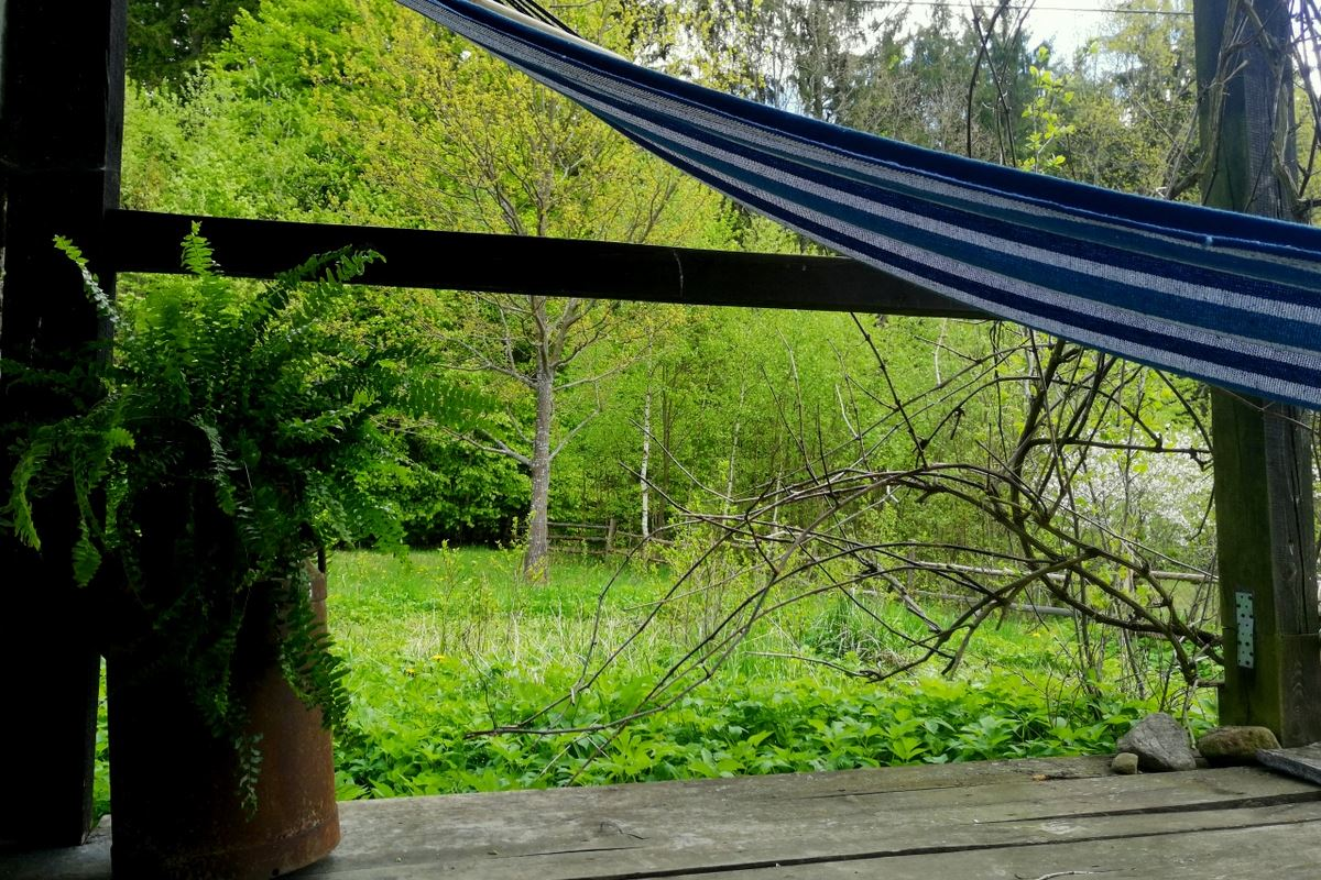 Hammock on the terrace of Quercus room